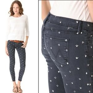 Mother The Looker Ankle Zip Fleur De Love Jeans